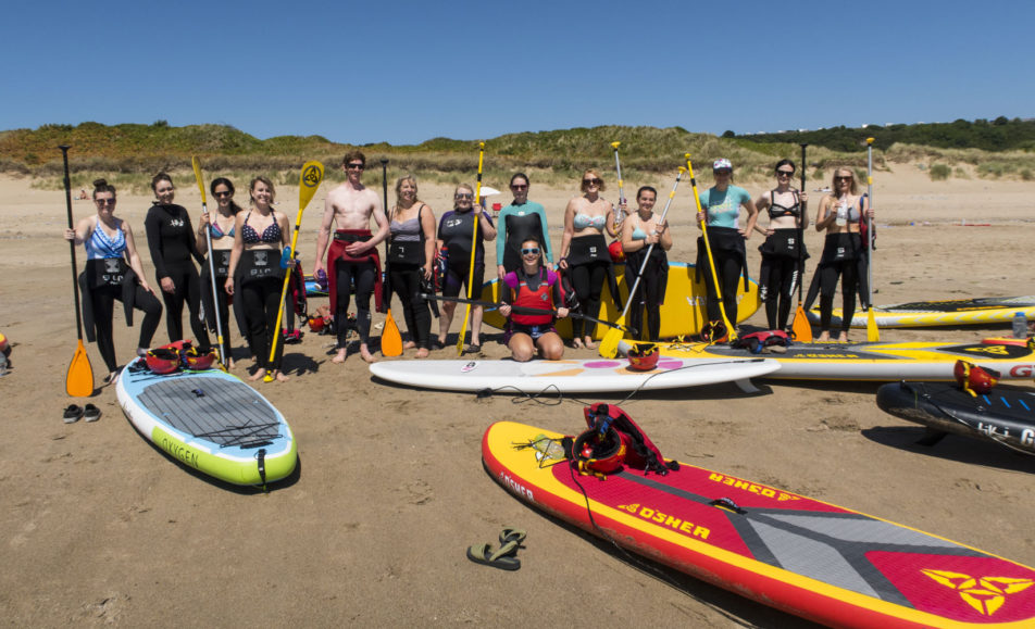Women's Stand up Paddle Board & Yoga day in Gower