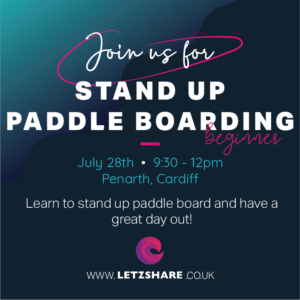 Letzshare Stand Up Paddle Boarding (SUP) Beginners Women's Session Penarth Cardiff SUP Wales