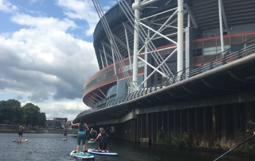 Improver Standup Paddle Boarding Session in Cardiff by the Principality stadium