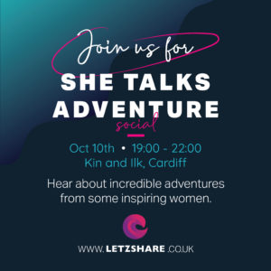 A networking event for women in Cardiff, with women talking about adventure