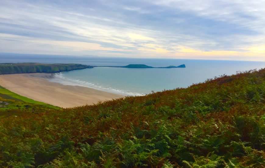 Gower view of Rhossili and worm's head