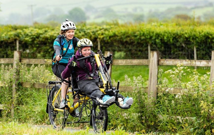 Nia Evans on a cycling adventure in Wales with her friend Tia