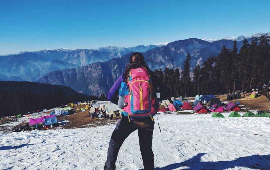 woman on an adventure