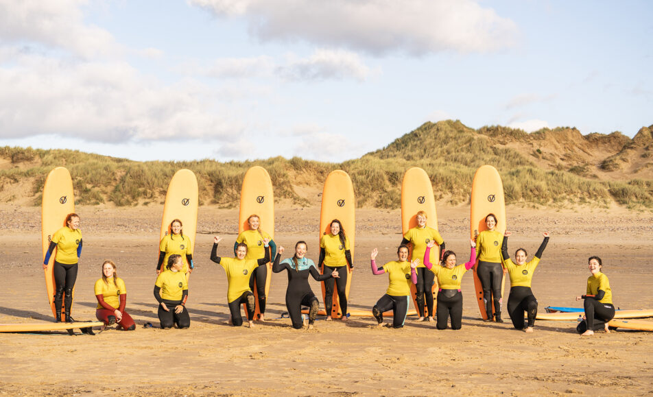Women's Surf, Sup & Pilates Campout Weekend in Gower
